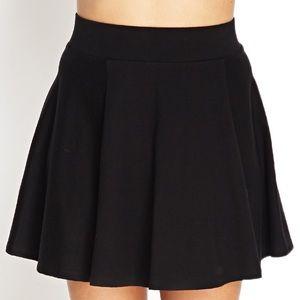 🍁SALE🍁 Forever 21 black mini skater/circle skirt